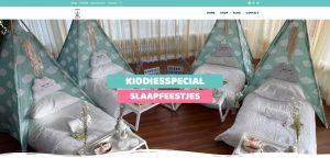 Website Kiddiesspecial Slaapfeestjes online