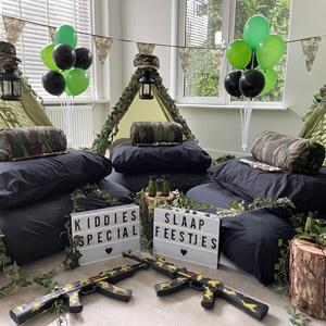 Slaapfeestje Special Forces